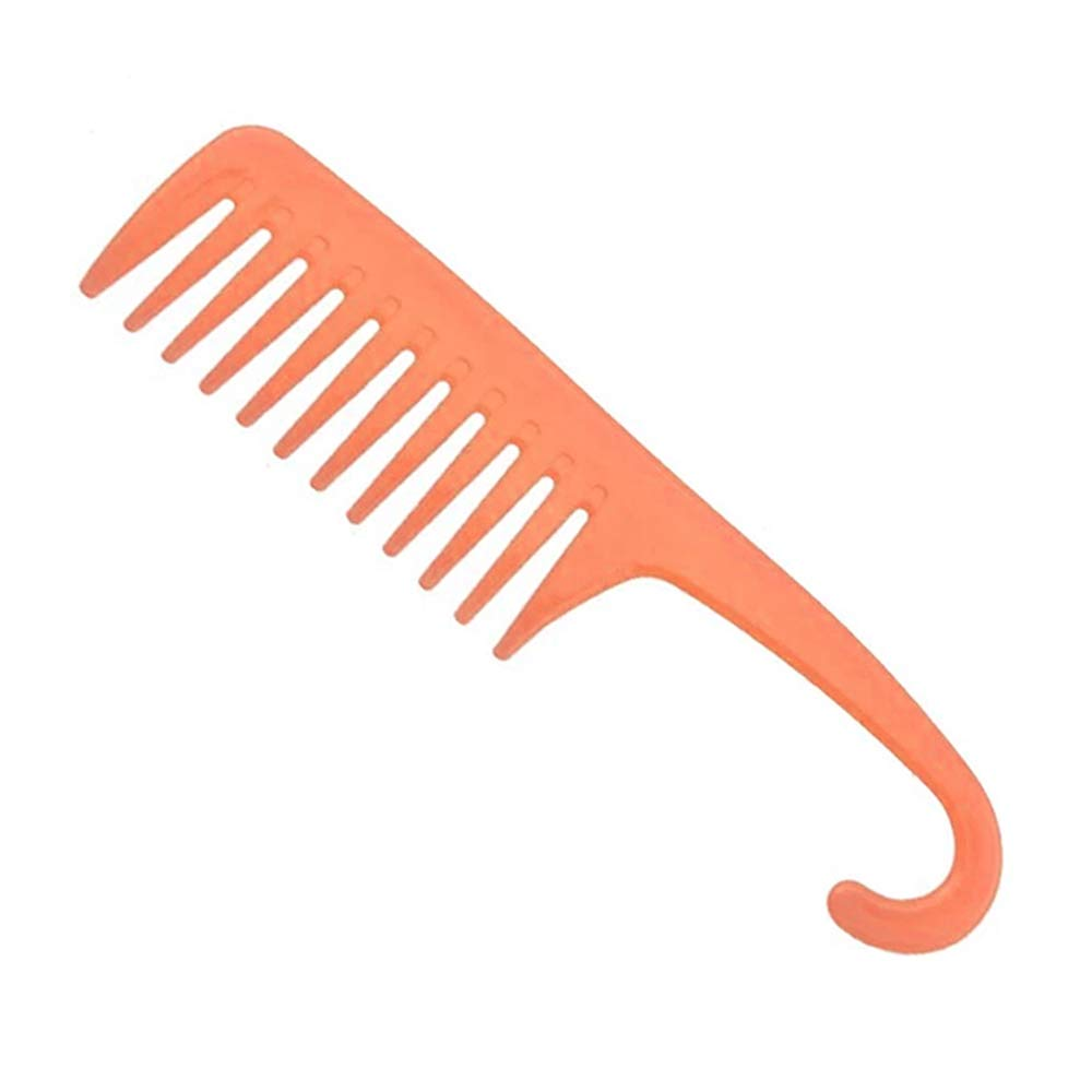 Wholesale  custom wide tooth detangling comb barber cutting combs and parting hair curly shower comb with hook
