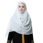 Wholesale Malaysia Women's Chiffonother+scarves+ Shawl Pure Color Muslim Hijab