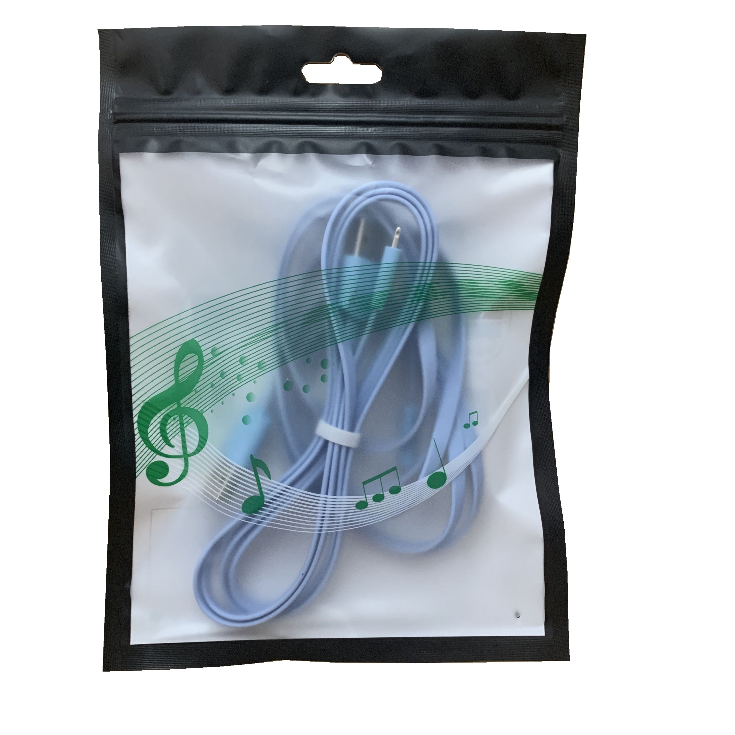 Free sample mylar plastic pearlized film clear zip lock reclosable USB bag mobile phone accessories packaging pouches