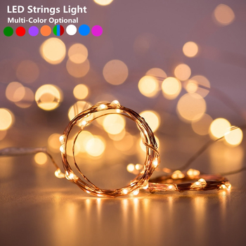 LED String light Silver Wire Fairy warm white Garland Home Christmas Wedding Party Decoration