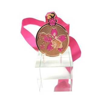 Custom design metal round dance medal for women