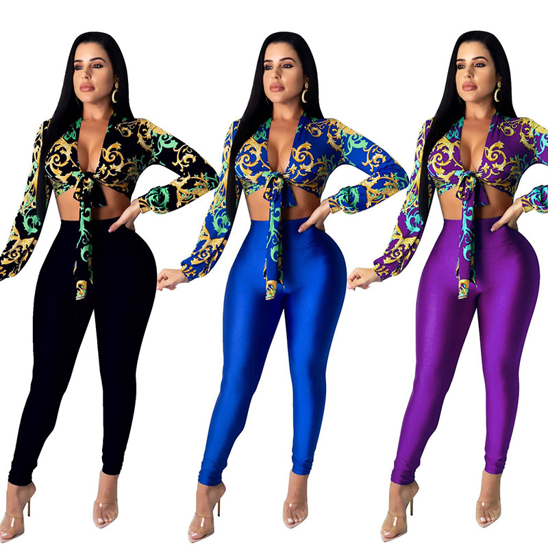 Vrouwen Casual Sport Mode Skinny Tweedelige Set Top En Broek Trainingspak Sweatsuit Outfits