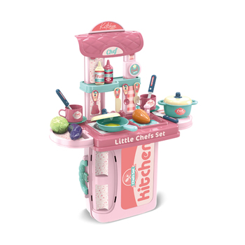 new 2 in 1 portable cooking set pretend girls toys kids kid play kitchen with video