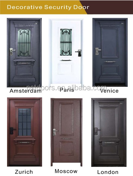 Art Door With Electric Lock,Decorative Israel Door