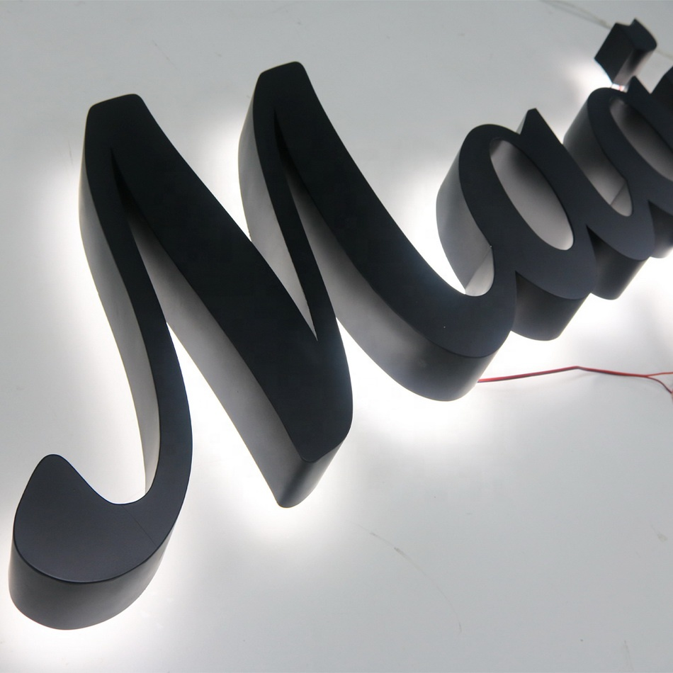 Manufacturer Custom Waterproof Led Illuminated Outdoor Channel Letters Sings  light letters large for wedding
