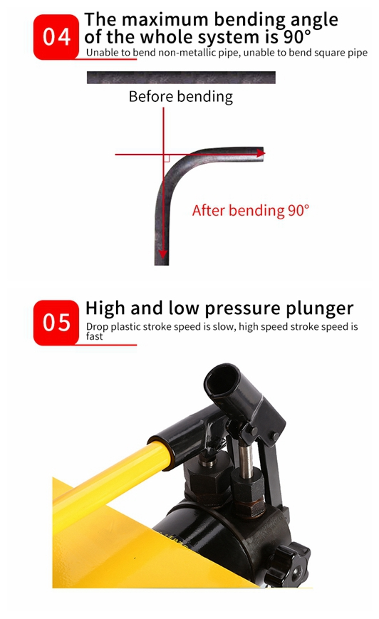 ODETOOLS Manual Hydraulic Pipe Bender 2inch Bracket HHW-4J
