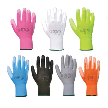 Flex Lightweight Colorful PU Palm Coated Gloves For Gardening Light Duty Work