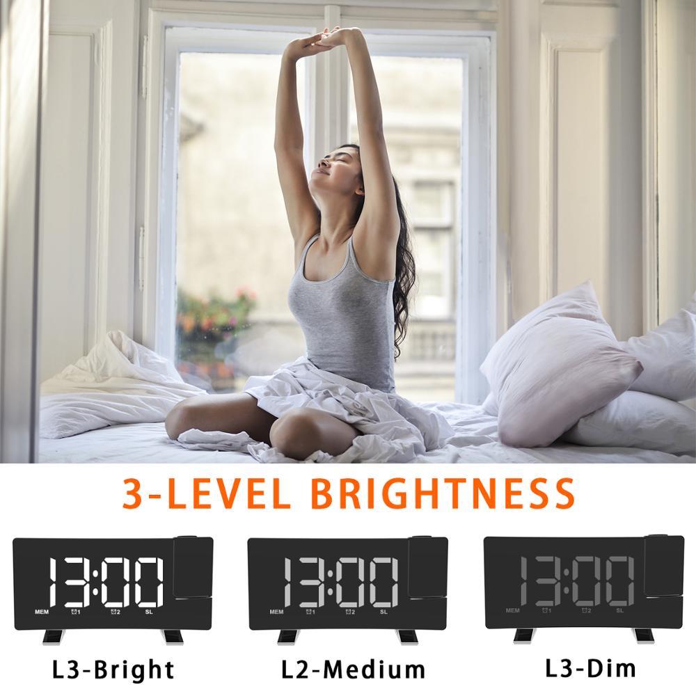 Amazon Top Seller 2019 Digital Sunrise Alarm Clock with Radio and Projector