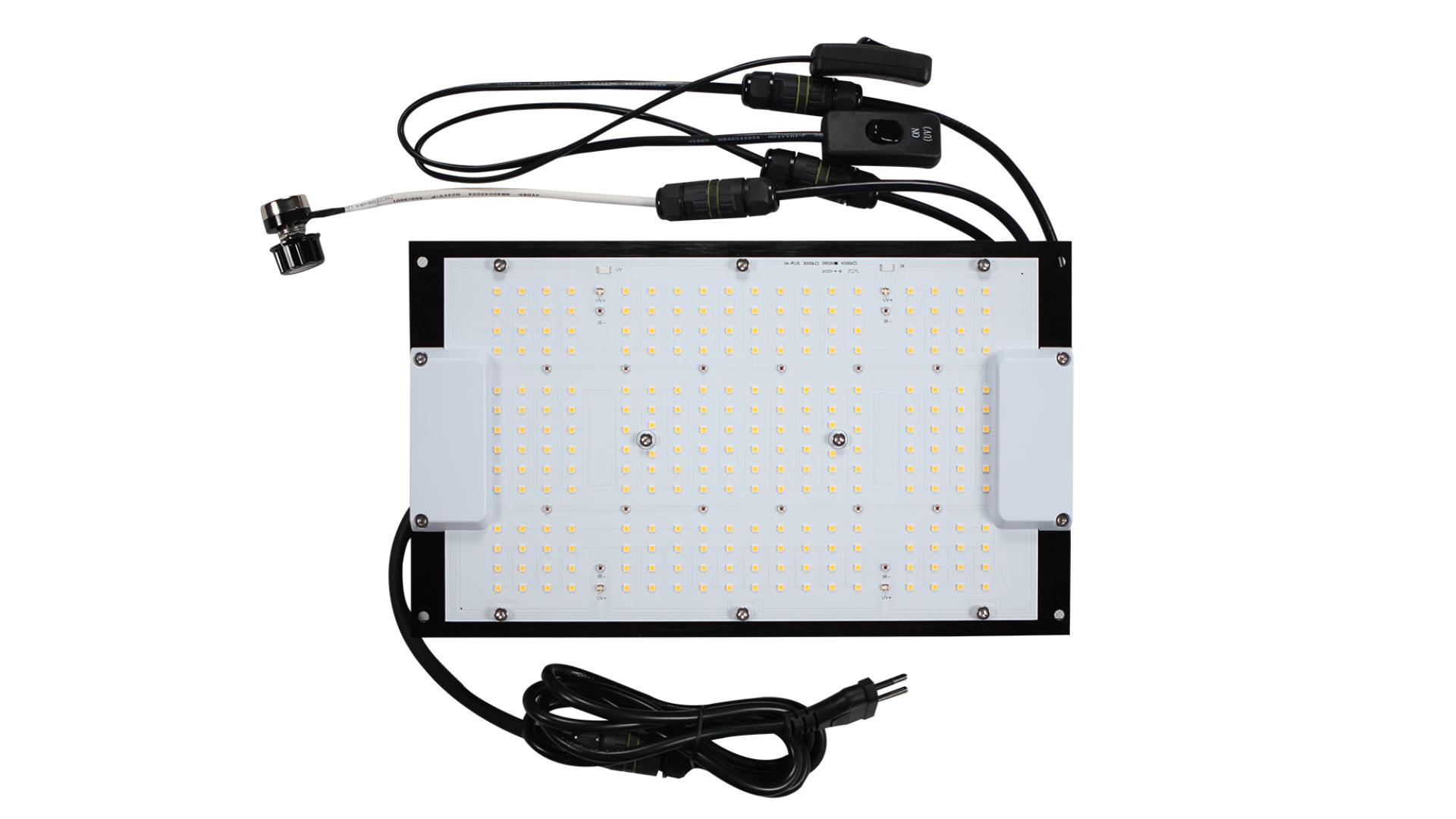 Geeklight 120 Вт доска монстра LM301H LM301B сеульская 3030 гидропонная Светодиодная лампа для выращивания микс УФ ИК-переключатель
