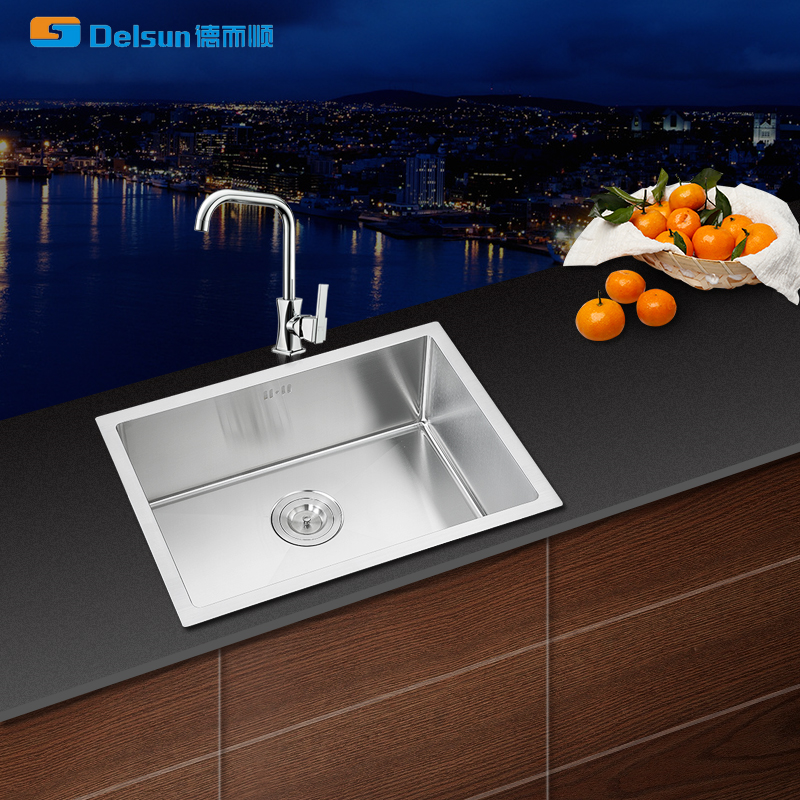 Europe hot selling undermount sink stainless steel single bowl handmade kitchen sink