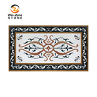 Polished marble of the waterjet medallion wall designs for wall panel and floor