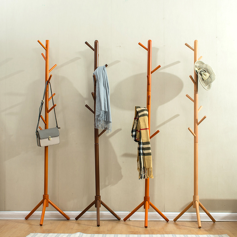 cheap wooden clothes trees hanging coat stands