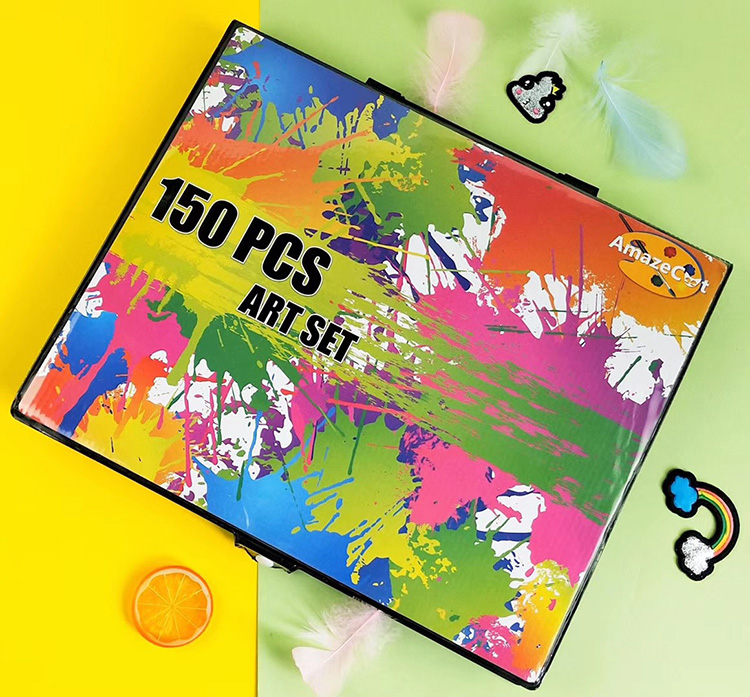 150 Pcs DIY Mainan Sekolah Hadiah Anak-anak Menggambar Seni Alat Tulis Set