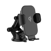 VINA New Arrival 15W Auto Coil Induction Glass Mirror Wireless Charger Car Mount