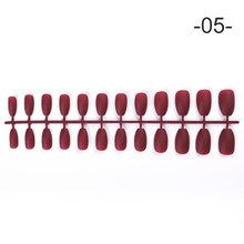 24 шт./пакет, цветные накладные ногти из АБС-пластика, инструменты для дизайна ногтей, аксессуары(Китай)