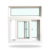 Horizontal Opening Pattern and Plastic Frame UPVC sliding and casement window