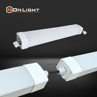 40W 4FT 120cm Surface Mount Hanging IP65 Tri-Proof Ceiling Fluorescent Light Fixture clear cover
