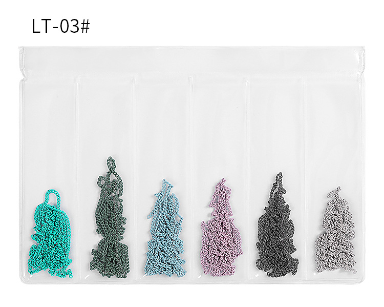 Nail Art Chain Net Red Jewelry Color Tassel Nail Decoration Thickness Mixed 60 Punk Style Steel Ball Chain