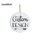 Family Blank Ornaments Leadsub Family DIY Sublimation Blank Ceramic Christmas Ornament