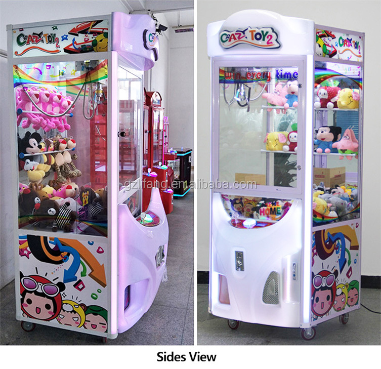 I01 โรงงานขายส่งเหรียญรางวัลหยอดเหรียญเกมเครื่องอาเขต LED Candy Crane Toy Claw Machine มาเลเซีย