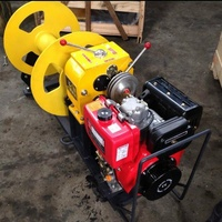 5 Ton 30 KN Belt Drive Winch Diesel Engine Honda Gasoline Cable Pulling Winch