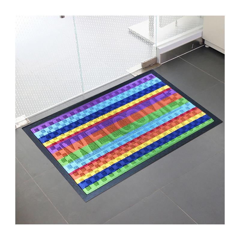 Оптовая продажа пользовательские двери коврики Нескользящие резиновые подложки полипропилен