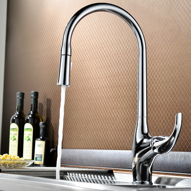 mordem industrial faucet fkitchen sink tap with pull down sprayer