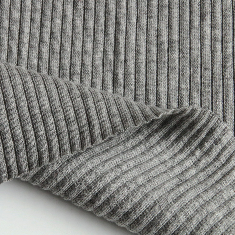 3278#95%cotton 5%spandex seamless tubular ribbed knit fabric for sweater