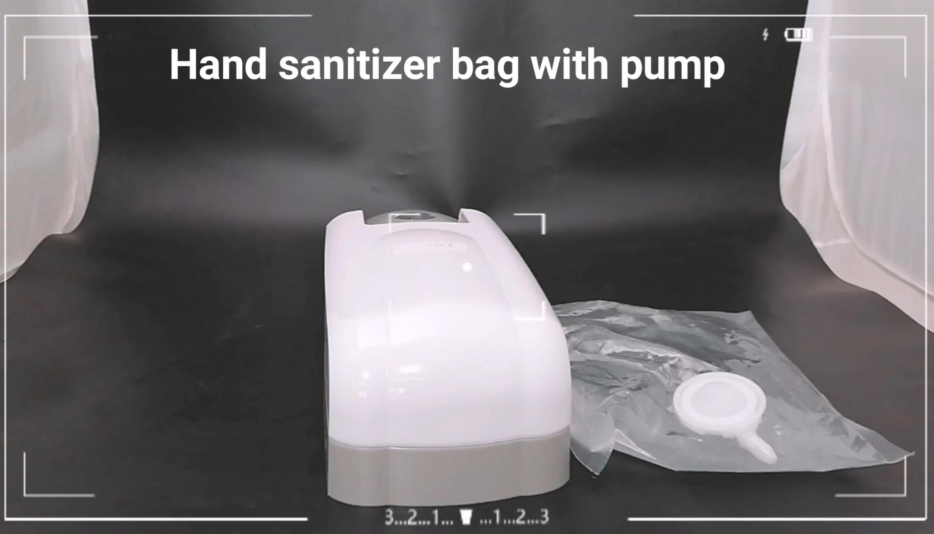 400ml 500ml 1L custom High Quality Disposable  Hand Sanitizer Liquid  Soap Bag  transparent plastic nozzle with soft tube