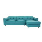 Leather Sofa Furniture Factory Price Wholesale Modern Living Room L Shaped 3 Seat Leather Sofa Furniture