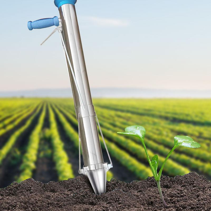Hand Held Manual Planter Transplanter Seeder Seedling Bulb ...