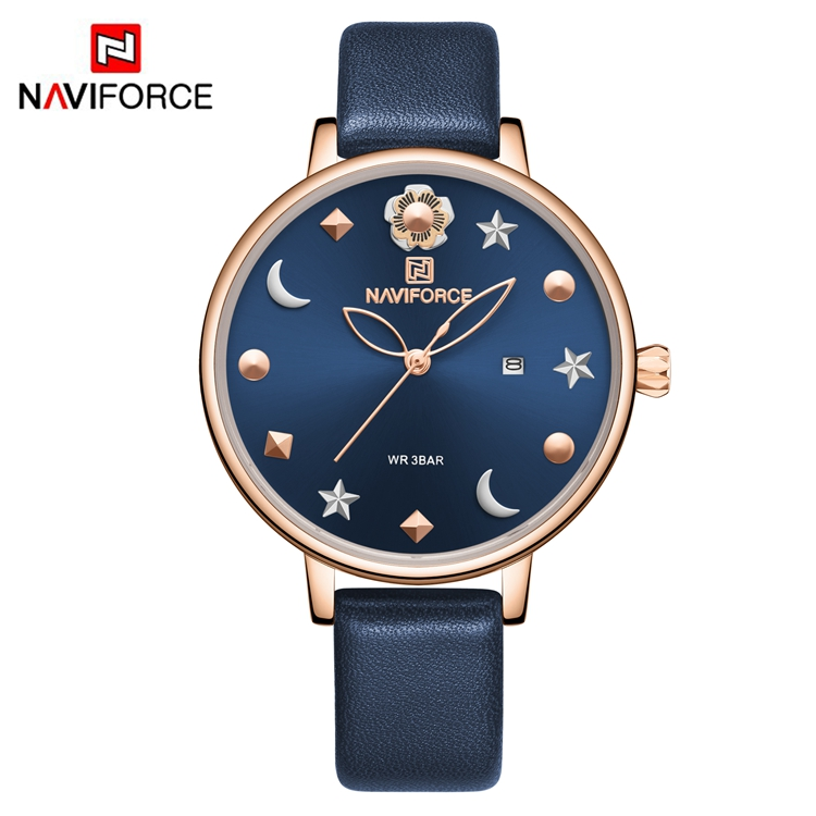 NAVIFORCE NF5009 <strong>Watch</strong> <strong>For</strong> <strong>Women</strong> Brand Elegant Leather Band <strong>Wrist</strong> <strong>Watch</strong> <strong>Women</strong> Quartz