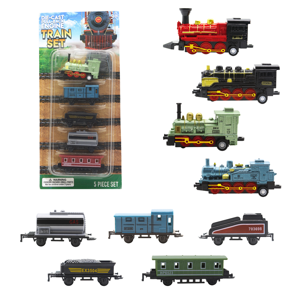 5pcs High Quality Mini Diecast Toy Vehicles Alloy Pull Back Train <strong>Model</strong>