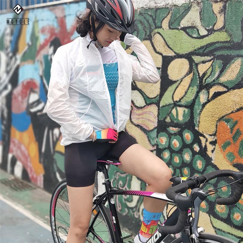 Super Léger Coupe-Vent Veste de Cyclisme Vélo de Sport de Vêtements de Manteau de Vent UV Course Outwear avec réflecteur pour sûr cycle