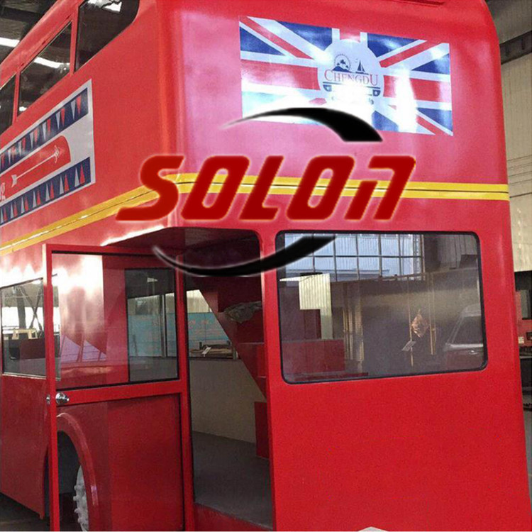 Mobile double floor bus stree food restaurant in UK