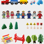 Train Toy Toys Train Train Set Toy Best Selling 88pcs Wooden Train Set Table Toy Wholesale Customized Boys Girls Children Educational Toys