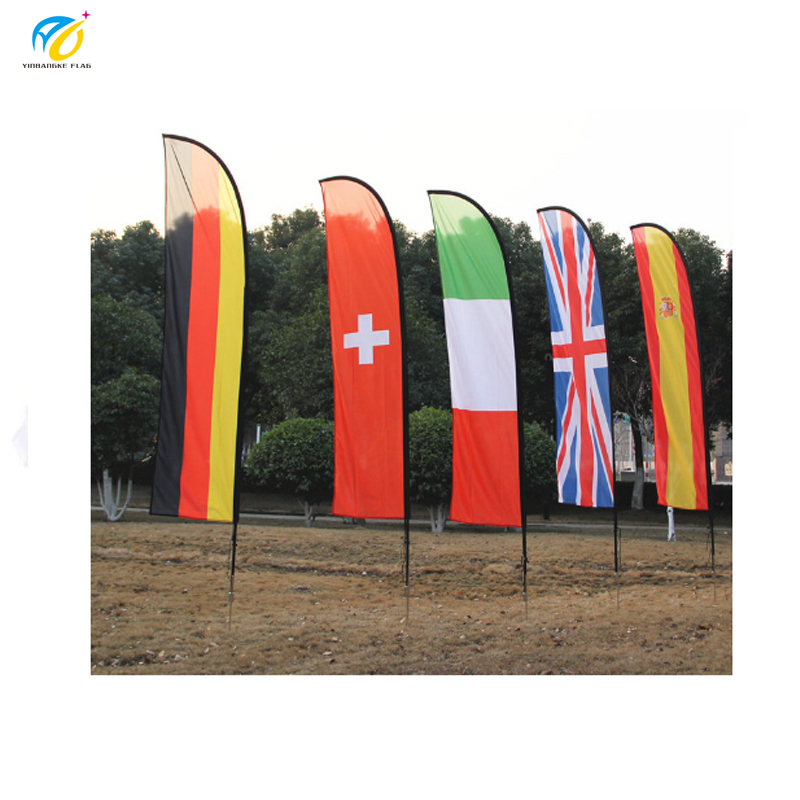 Tùy chỉnh bãi biển quốc gia quảng cáo lông lá cờ