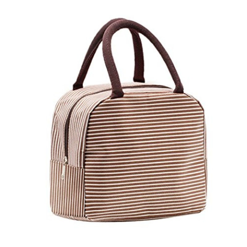 Fashion Red Insulated Lunch Cooler Bag Polyester Lunch Bag with handle