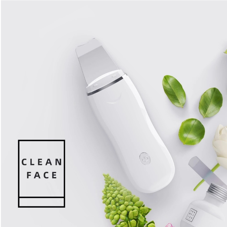 Rechargeable electric mini portable ultrasonic skin scrubber facial beauty and personal care equipment