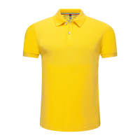 Manufacturer price men polo short sleeve uniform yellow t shirt