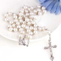 Hot Selling In Imitation Of Pearl Crosses Rosary Beads Wholesale