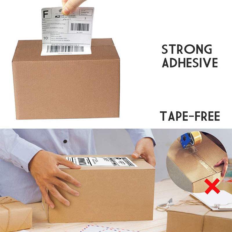 thermal paper stickers 60mm*40mm*1000 pieces self adhesive labels
