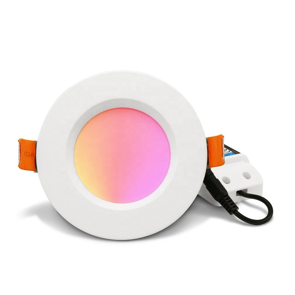 2020 New Gledopto Smart LED Down Lights ZigBee Gateway Control WiFi LED Downlights White Ambiance Retrofit Recessed Downlight 6W