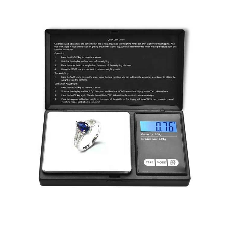 مجوهرات الماس الذهب 0.01g مقياس رقمي ، ميزان تحليلي الإلكترونية الرقمية