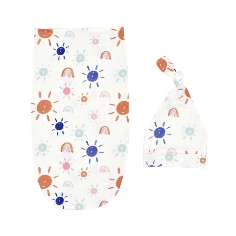 2021 nuovo stile di cotone Neonato Swaddle Coperta Del Bambino Wrap Sacco A Pelo con il Cappello Anti-shock Morbida Pelle-friendly vestiti per I Neonati