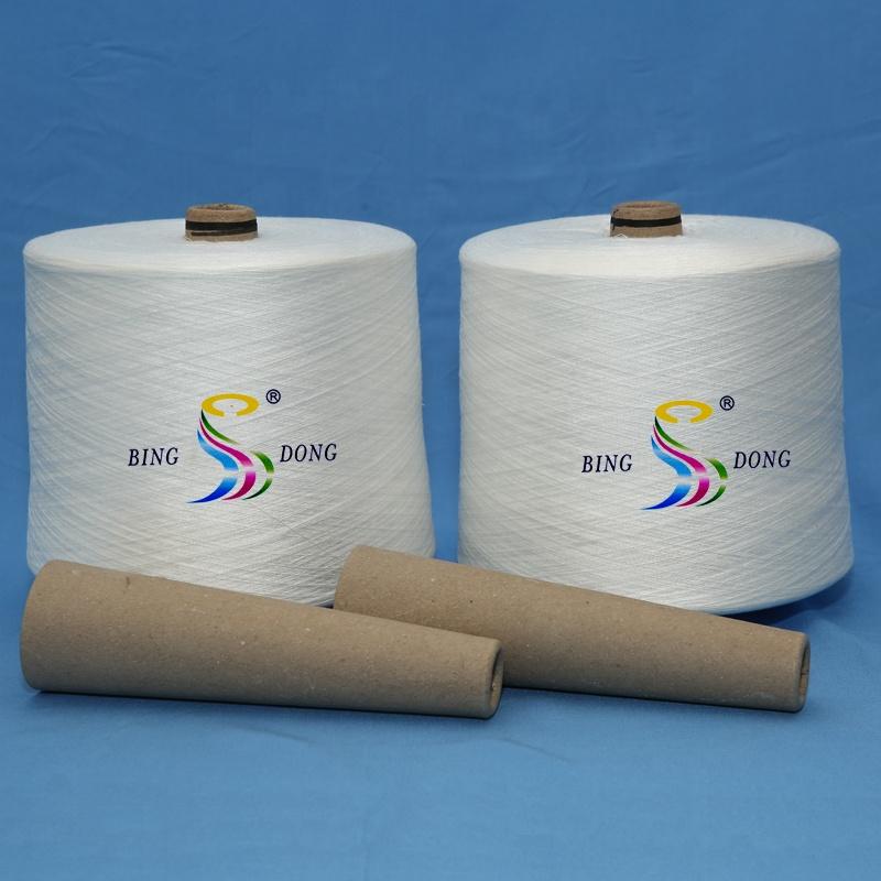 20/2 30/2 40/2 50/2 60/2 raw white paper cone dye tube Ring spun TFO quality 100% spun polyester yarn for sewing thread