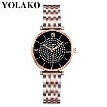 Женские часы, 2020, Роскошные, с бриллиантами, розовое золото, женские наручные часы, магнитный женский браслет, часы для женщин, часы, Relogio Feminino(Китай)