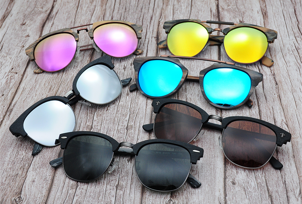 Drop shipping Made in Shenzhen high quality customized lenses colorful frame acetate sun glasses