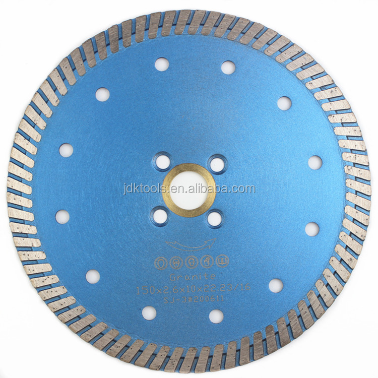 6 Inch Turbo DIamond Dry Cutting Saw Blade For Granite