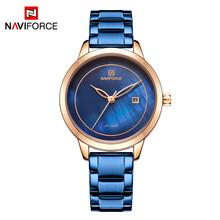 NAVIFORCE брендовые роскошные женские часы модные повседневные женские водонепроницаемые часы женские наручные кварцевые часы Relogio Feminino(Китай)